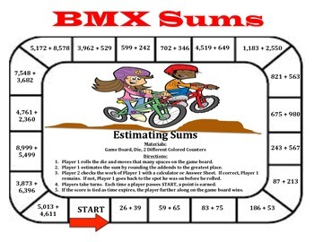 BMX Sums - A 2-Player Game to Practice Estimating Sums