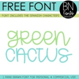 BN Font - Free Font - Green Cactus