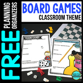 BOARD GAMES Theme Decor Planner by Clutter Free Classroom