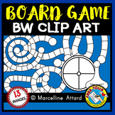 GAME BOARD CLIPART WITH 10 TEMPLATES, SPINNER AND PIECES