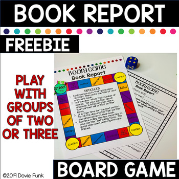 BOARD GAME Book Report Activity