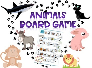 BOARD GAME: Wild and farm animals. FREE