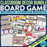 BOARD GAMES THEME Classroom Decor - EDITABLE Clutter-Free