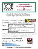 BOB Books Printables for Beginning Readers: Set 1, Book 2 SAM