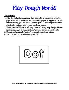 BOB Books Printables for Beginning Readers: Set 1, Book 3 DOT