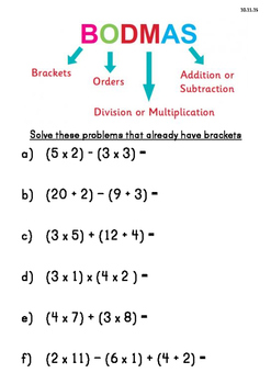 BODMAS - Order of Operations