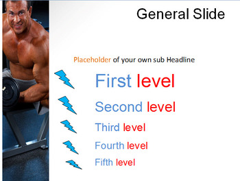 BODY BUILDING POWERPOINT TEMPLATE