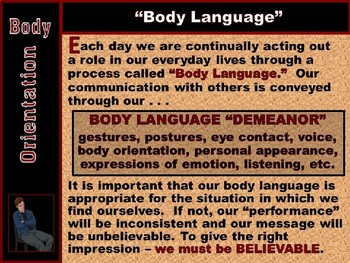"""BODY LANGUAGE PPT - Part 1: """"Body Orientation & How Others See YOU!"""""""