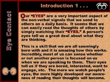 """BODY LANGUAGE PPT - Part 3 """"Eyes-Mouth-Facial Expressions & How Others See YOU!"""""""