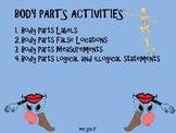 SPANISH BODY PARTS ACTIVITIES