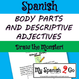 BODY PARTS:  Draw the monster!