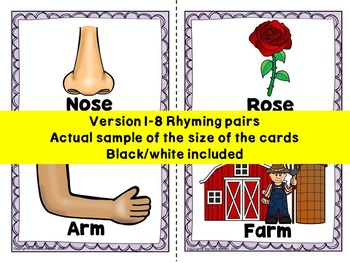 BODY PARTS Rhyming Activities-Rhyming Literacy Center activities