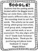 BOGGLE! 1st Grade Scott Foresman Unit 1 Week 1 short a