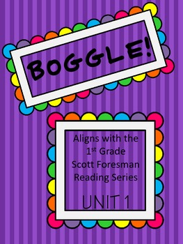 BOGGLE! 1st Grade Scott Foresman Unit 1 Week 1 short a