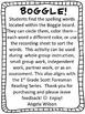 BOGGLE!  1st Grade Scott Foresman Unit 2 Week 4 Long o (CVC)