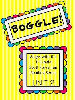 BOGGLE!  1st Grade Scott Foresman Unit 2 Week 6 Long e spelled /e/ and /ee/