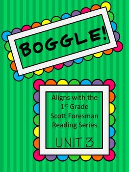 BOGGLE! 1st Grade Scott Foresman Unit 3 Week 5 Words with /er/, /ir/, and /ur/