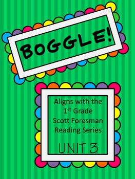 BOGGLE! 1st Grade Scott Foresman Unit 3 Week 5 Words with /er/, /ir/, and /ur/
