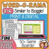 Word O Rama Similar to Boggle Task Cards and Google Slides