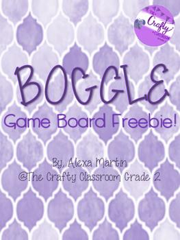 BOGGLE Game Board Freebie