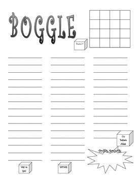 BOGGLE Game Handout