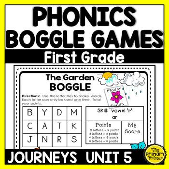 Journeys FIRST Grade BOGGLE:  Unit FIVE