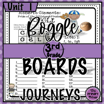 Journeys THIRD Grade BOGGLE:  Unit ONE