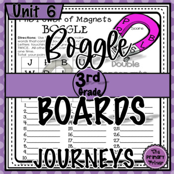 Journeys THIRD Grade BOGGLE:  Unit SIX
