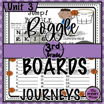 Journeys THIRD Grade BOGGLE:  Unit THREE