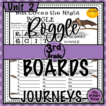 Journeys THIRD Grade BOGGLE:  Unit TWO