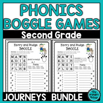Journeys SECOND Grade BOGGLE:  The BUNDLE for Units 1-6