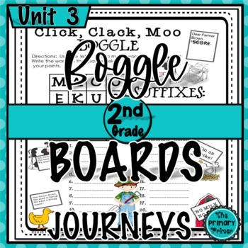 Journeys SECOND Grade BOGGLE: Unit THREE