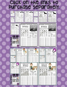 Journeys THIRD Grade BOGGLE: The BUNDLE for Units 1-6