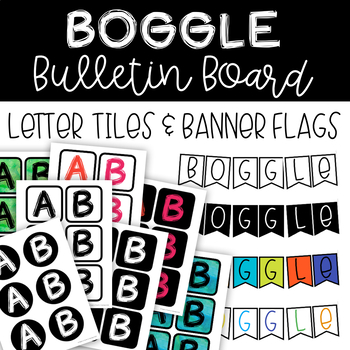 BOGGLE Letters and Banner