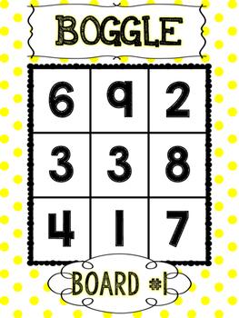 Primary Polka Dots BOGGLE Math