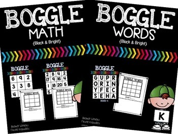 BOGGLE Math & Words Bundle {Black & Bright}