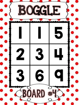 BOGGLE Math & Words Bundle in Primary Polka Dots