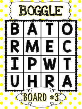 Primary Polka Dots BOGGLE WORDS