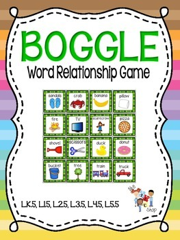 BOGGLE! Word Relationship Game
