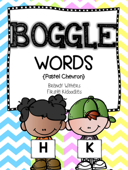 Pastel Chevron BOGGLE Words