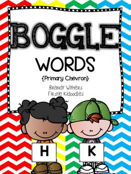 Primary Chevron BOGGLE Words