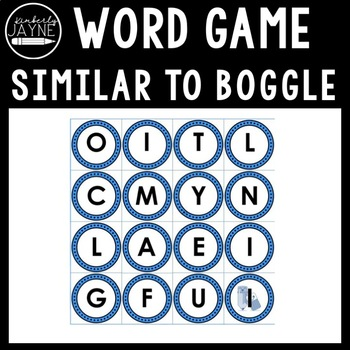 BOGGLE for Smartboard, Literacy Centers or Independent Work (Editable)