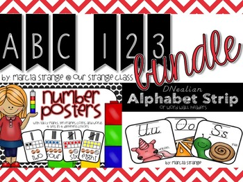 BOGO: ABC Cards & Number Cards in D'Nealian
