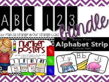 BOGO: ALphabet Strip & Number Cards in Print