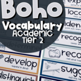 Boho Academic Vocabulary Wall Cards with Pictures