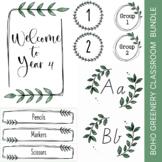 BOHO GREENERY Themed Classroom Decor | Bundle | Editable
