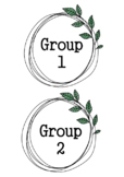 BOHO GREENERY Themed Classroom Decor | Group Posters | Editable