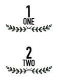 BOHO GREENERY Themed Classroom Decor | Number Posters | 1 - 20