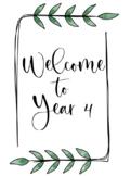 BOHO GREENERY Themed Classroom Decor | Welcome Sign | Editable