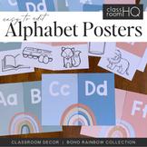 Modern BOHO RAINBOW Alphabet Posters